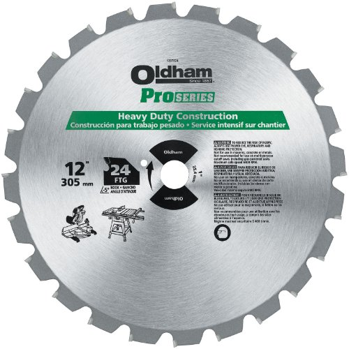 Oldham ProSeries 1207824 12-Inch 24T Carbide Saw Blade Construction