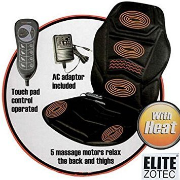 HEATED BACK SEAT MASSAGE CUSHION FOR CHAIR CAR MASSAGE HOME RELAX VAN cartopic