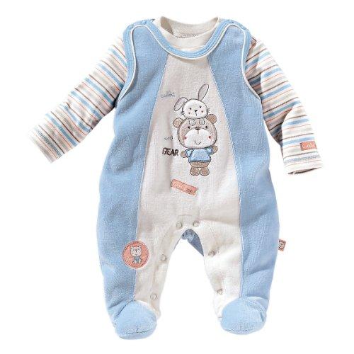 BORNINO Stramplerset Nicki-Strampler mit Shirt Baby Baby-Set, Größe 62/68, hellblau