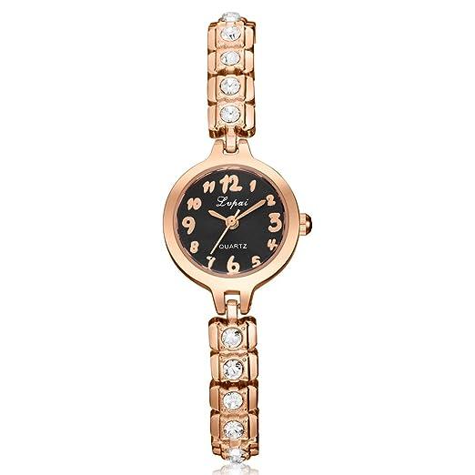 Delaman Reloj de cuarzo para mujer, reloj analógico de moda para mujer, 2018 (