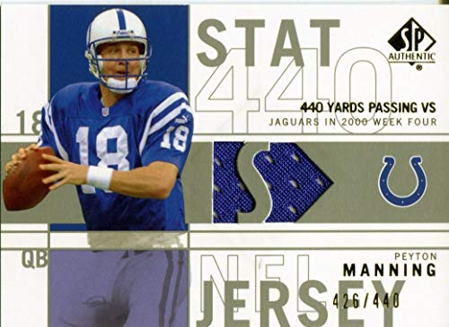Peyton Manning 2001 Upper Deck SP Authentic Game Used Jersey Card 426/440 ()