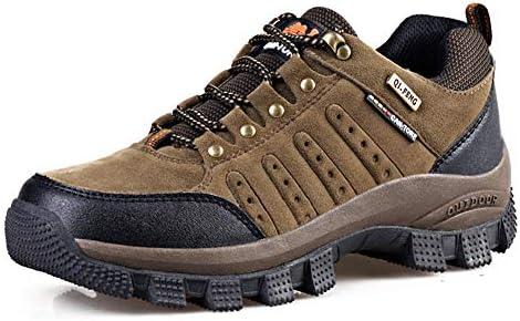 トレッキングシューズ メンズ ハイキングシューズ 防水軽量 登山靴 大きいサイズ 通気性 スエードアウトドアシューズ 防滑ウォーキング 靴 耐磨耗 厚い靴底