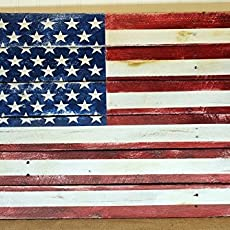 American Flag Reclaimed Wood Pallet Sign USA Home Decor Red White And Blue