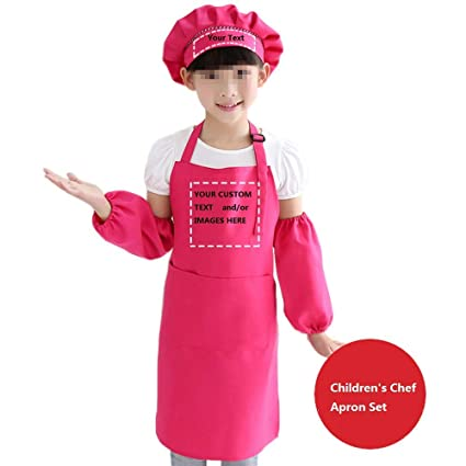 a73867aaaf337 Amazon.com  YOWESHOP Personalized Name Text Image on Children s Chef ...