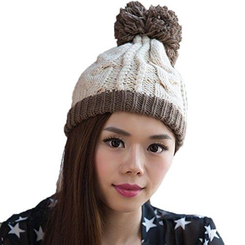 Lana 3 señoras Coreano Moda Sombrero de de de Las Sombrero Punto Bromista Punto del Sombrero a Invierno Coreana Maozi 5 PqfHf