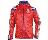 adidas Mens FC Bayern Munchen Anthem Jacket Red
