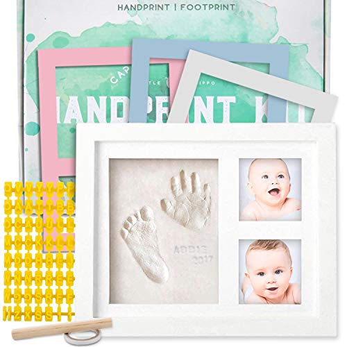 Baby Handprint Kit |NO MOLD| Baby Picture Frame, Baby Footprint kit, Perfect for Baby Boy gifts,Top Baby Girl Gifts…