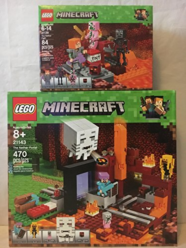 LEGO Minecraft the Nether Portal & LEGO Minecraft the Nether Fight