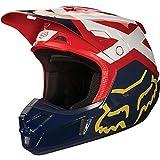 2018 Fox Racing V2 Preme Helmet-Navy/Red-XL