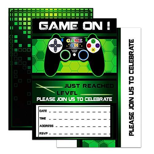 WERNNSAI Video Game Invitations - 20 Set Magical