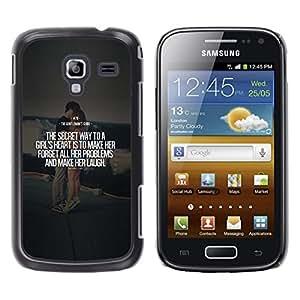 YOYOYO Smartphone Protección Defender Duro Negro Funda Imagen Diseño Carcasa Tapa Case Skin Cover Para Samsung Galaxy Ace 2 I8160 Ace II X S7560M - matrimonio cotización par el texto del amor del corazón