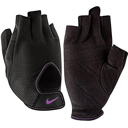 Nike Women's Fundamental Training Glove, Grey/Black/Purple, Small