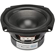 """DROK 4.5"""" 6 Ohm Hifi Subwoofer Speakers Stereo Audio Loudspeaker, 40W DIY Loudspeaker with Good Bass for Desktop Computer Car Auto Motor Motorcycle Vehicle, Great Replacement for Sound System"""