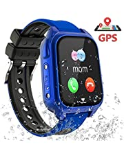 Smart Watches GPS Tracker - Kids GPS Watch for Girls Boys Student Gift, Smart Watch GPS Tracker for Children, Kids Watch Smart Bracelets Wristbands with SOS Phone Call Voice Chat Locator Pedometer