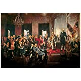 Howard Chandler Christy Scene at the Signing of the Constitution Art Poster Print 19 x 13in with Poster Hanger