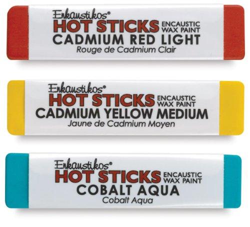 Hot Sticks Encaustic Wax Paints - Gelb Ochre by Enkaustikos