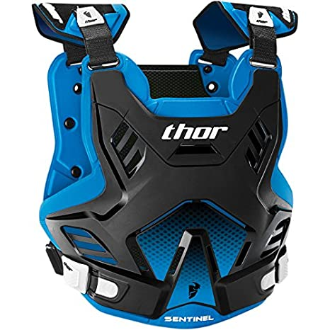 Thor Sentinel GP Kinder Brustpanzer Offroad Enduro Protektor Cross Motocross Orange Blau Grü n Rot Schwarz Weiss (Blau) 2701-0760-GM
