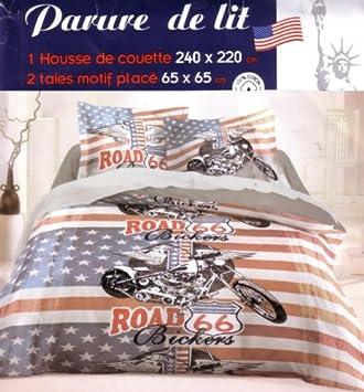 Parure De Lit Housse De Couette Double 2 Personnes 240x 220 Cm