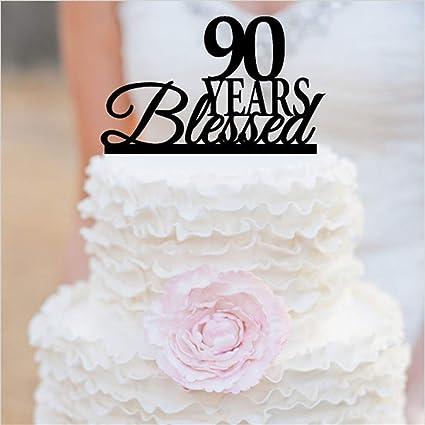 Ezyforu - Decoración para tartas de 90 años con adornos de ...