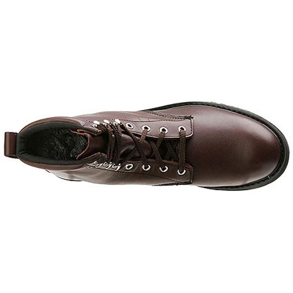 Work America Mens 6 Farm Work Leather Steel Toe Lace Up Safety Shoes