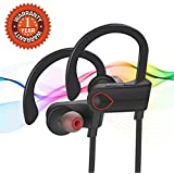 Gvirtue Wireless Headphones Sports Earphones HD Stereo Sound IPX7 Waterproof for Gym Running Noise Cancelling Headsets
