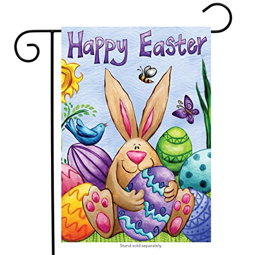 Happy Easter Bunny Garden Flag Eggs Birds Holiday Briarwood
