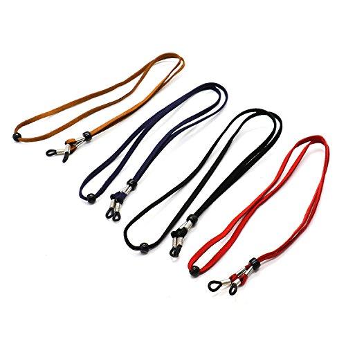 6 Packs Adjustable Eyewear Retainer,YuCool Universal Eyeglasses Strap Chain-3 Colors