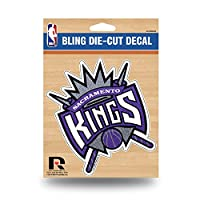 "NBA Kings - SAC Bling Medium Die Cut Decal, 9 x 5"", Logo Color"