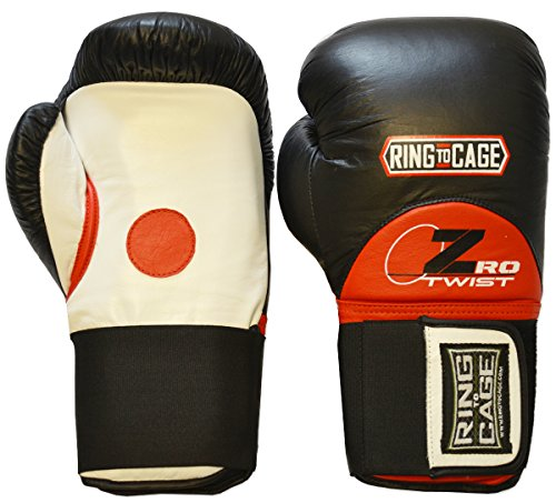 ZroTwist Focus Pad-Sparring Gloves/Mitt for Boxing, Muay Thai, MMA, Kickboxing, Martial Arts by Ring to Cage