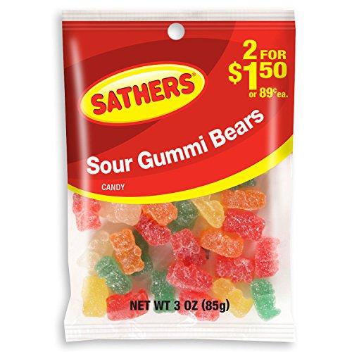 Sathers Sour Gummi Bears (2 oz. bag, 12 ct.)