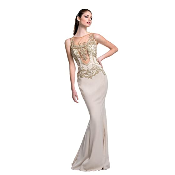 Amazon.com: Terani Couture Women\'s Sequined Sleeveless Evening Gown ...