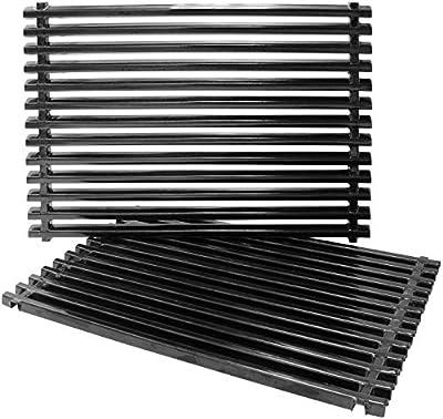 Hongso PCG525 Porcelain Steel Grill Grid Grates for Weber Spirit E-310 & E-320, Spirit S-310 & S-320, Spirit 700, Weber 900, Genesis Silver B/C, Genesis I - IV & 1000-5000, 7525 65906 7526 7527 9930