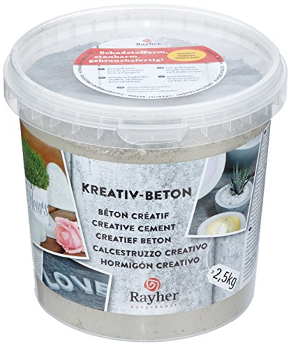 Rayher Creative Cement for concrete crafts, 2.5 Kg