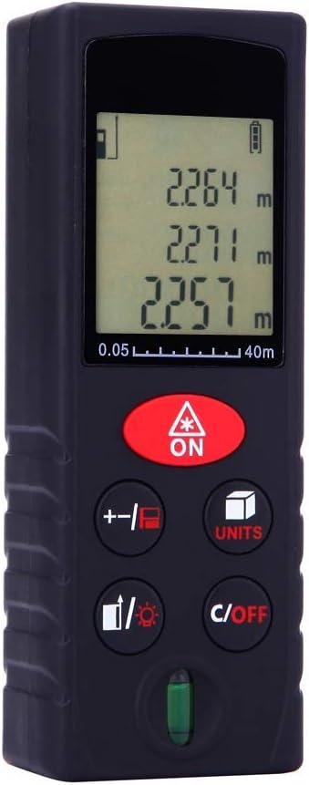 DT Láser de medición 80m Digital de Gran precisión Media Distancia de medición de retroiluminación de LCD de Construcción Industrial y Diseño de Caminos Casa