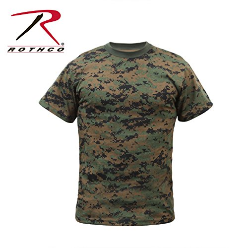 - Rothco Kids T-Shirt, Woodland Digital Camo, Small