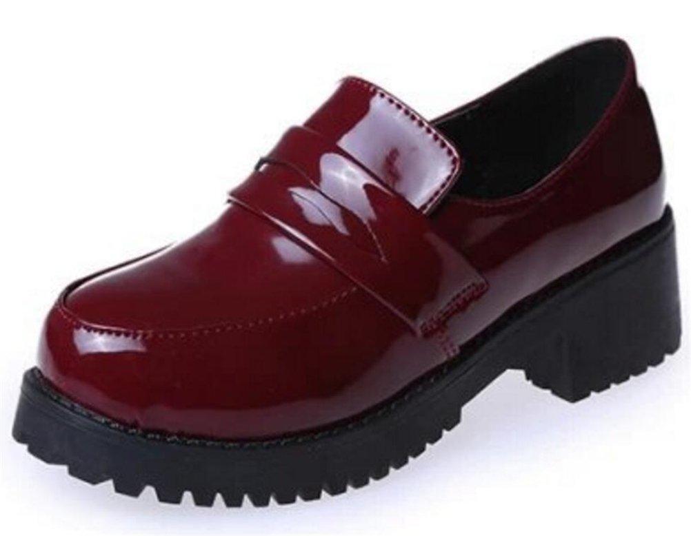 ACE SHOCK Women's Girl's Lolita Low Top Japanese Students Maid Uniform Dress Shoes (7.5)