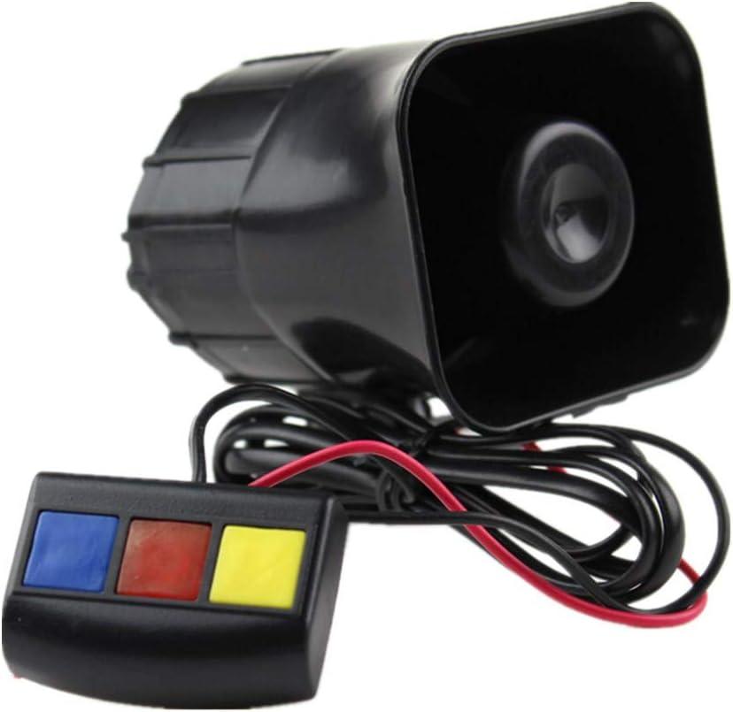 Mioke Alarma Altavoz Bocina 12V 30W 3 Sonidos para Motocicleta Coche Sistema de Alarma Sirena Policía Bombero de Advertencia: Amazon.es: Coche y moto
