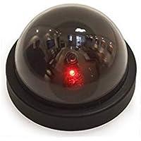 Hemore - Cámara de seguridad con cúpula redonda, alta simulación, monitor de simulación, cámara falsa con luz DIY herramientas de mano de jardín