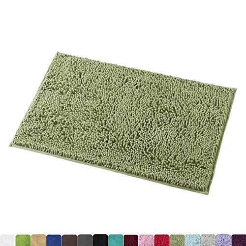 MAYSHINE Bath mats Bathroom Rugs Soft, Absorbent, Shaggy Microfiber,Machine-Washable, Perfect Door Mat (20X32 inch Sage Green) (Anti Bath Mats Slip)