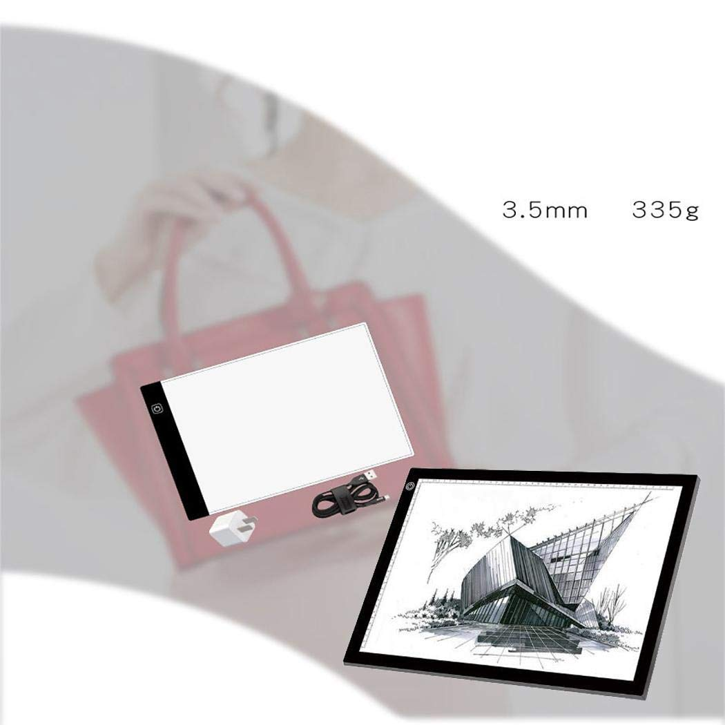 Halffle Portable A4 Light Box Tracer Drawing Sketching Board Thin Artcraft Light Pad Graphics Tablets