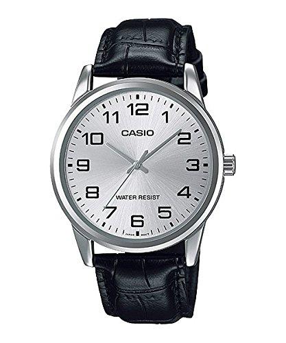 Casio Men's MTPV001L-7B Black Leather Quartz Watch (Corvette Watch)