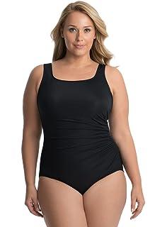 9885b91069b Miraclesuit Women's Swimwear Plus Size Solid Palma Tummy Control ...