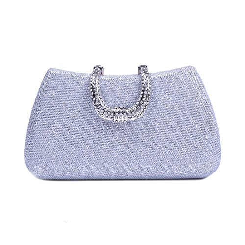 Evening Solid Female Bag Fly Color Women's Bag Party Bag Color Black Diamond Small Clutch Evening Square Silver with Bag Bag ZqwAq0R