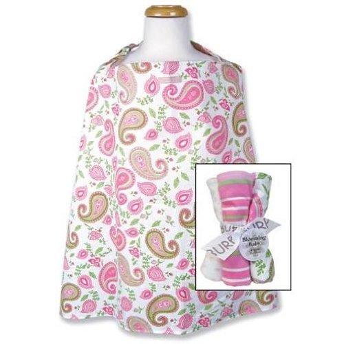 - Paisley Nursing Cover & Burp Cloth Set
