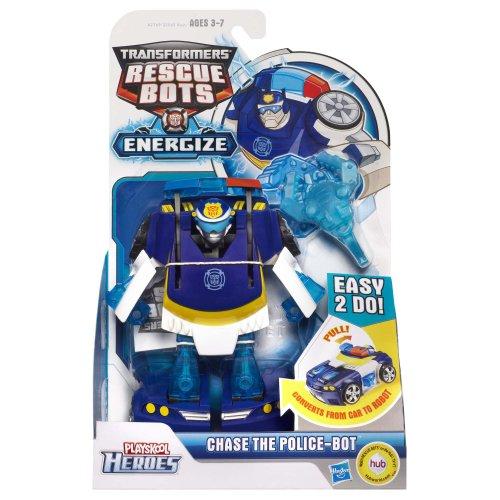 Transformers playskool heroes rescue bots energize chase - Playskool helmet heroes police officer ...