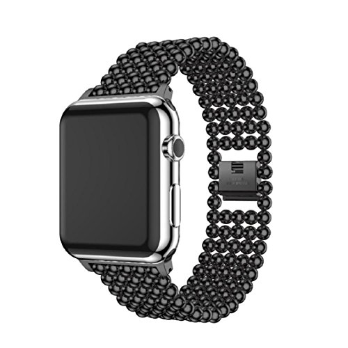 For Apple Watch Series 1/2 38MM/42MM,Sunfei Stainless Steel Watch Band Replacement Strap (42MM, Black)