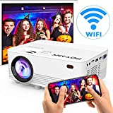 [Wireless Projector] POYANK 2800Lux LED Wireless Mini Projector, WiFi Projector Compatible with Smartphones, Video Games, TV Box Full HD 1080p Supported (WiFi Model): more info