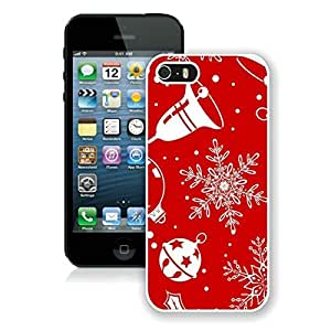 Hot Sell Design Iphone 5S Protective Cover Case Christmas Snowflake iPhone 5 5S TPU Case 2 White