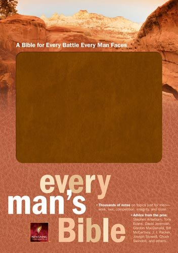 Every Man's Bible NLT (Bonded Leather, Tan) (Every Man's - Leather Series Bonded