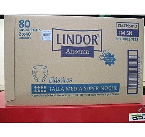 Lindor Pañal Lindor Bp S/Noche Med 2X40 100 g: Amazon.es: Salud y cuidado personal